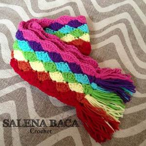 Da Bomb shell Scarf Salena Baca Crochet Pattern FREE Crochet